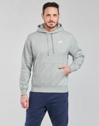 Textiel Heren Sweaters / Sweatshirts Nike NIKE SPORTSWEAR CLUB FLEECE Grijs / Wit