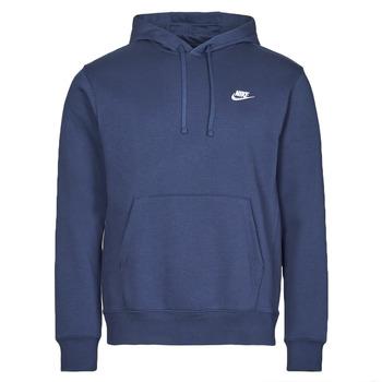 Textiel Heren Sweaters / Sweatshirts Nike NIKE SPORTSWEAR CLUB FLEECE Marine / Wit