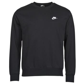 Textiel Heren Sweaters / Sweatshirts Nike NIKE SPORTSWEAR CLUB FLEECE Zwart / Wit