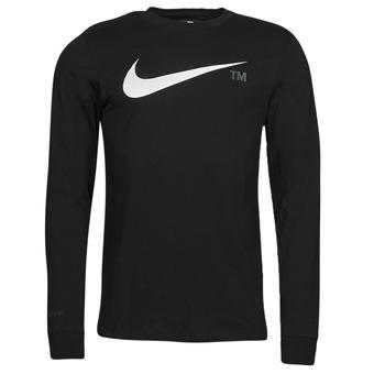 Textiel Heren T-shirts met lange mouwen Nike M NSW TEE LS GRX TEE Zwart
