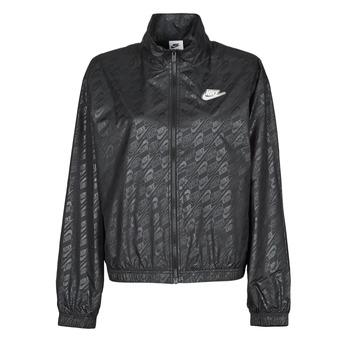 Textiel Dames Windjack Nike W NSW WVN GX JKT FTRA Zwart / Wit
