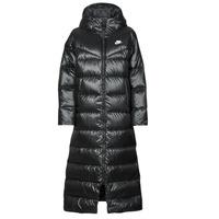 Textiel Dames Dons gevoerde jassen Nike W NSW TF CITY HD PARKA Zwart / Wit