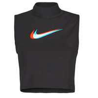 Textiel Dames Mouwloze tops Nike W NSW TANK MOCK PRNT Zwart