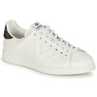 Schoenen Dames Lage sneakers Victoria TENIS PIEL Wit / Zilver