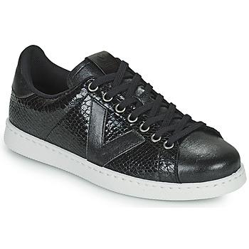 Schoenen Dames Lage sneakers Victoria TENIS SERPIENTE Zwart