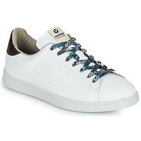 Schoenen Dames Lage sneakers Victoria TENIS VEGANO SERPIENTE Wit / Brons