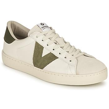 Schoenen Dames Lage sneakers Victoria BERLIN PIEL CONTRASTE Wit / Kaki