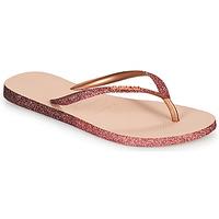 Schoenen Dames Teenslippers Havaianas SLIM SPARKLE II Roze