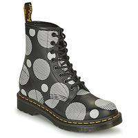 Schoenen Dames Laarzen Dr Martens 1460 Wit / Grijs