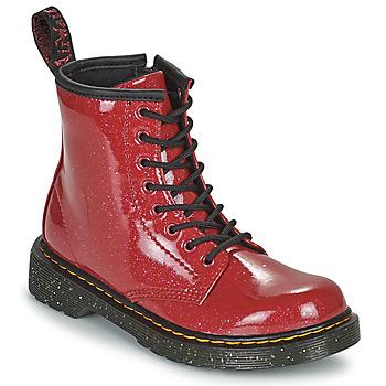 Schoenen Meisjes Laarzen Dr Martens 1460 J Rood
