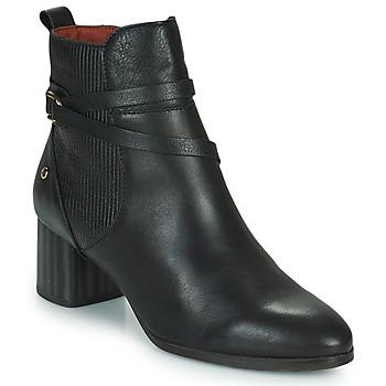 Schoenen Dames Enkellaarzen Pikolinos CALAFAT Zwart