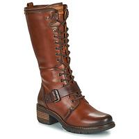 Schoenen Dames Hoge laarzen Pikolinos SAN SEBASTIA Bruin