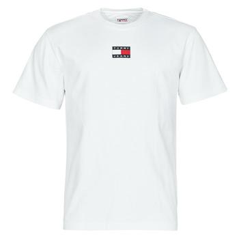 Textiel Heren T-shirts korte mouwen Tommy Jeans TJM TOMMY BADGE TEE Wit