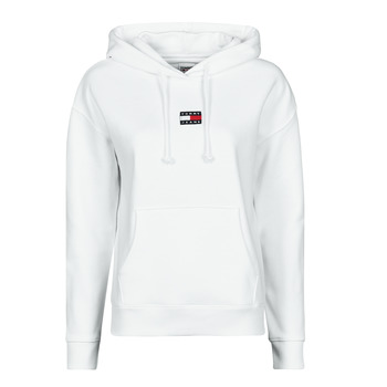 Textiel Dames Sweaters / Sweatshirts Tommy Jeans TJW TOMMY CENTER BADGE HOODIE Wit