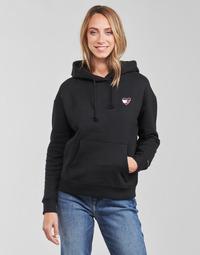 Textiel Dames Sweaters / Sweatshirts Tommy Jeans TJW BXY HOMESPUN HEART HOODIE Zwart