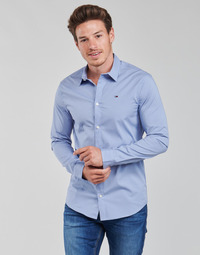 Textiel Heren Overhemden lange mouwen Tommy Jeans TJM ORIGINAL STRETCH SHIRT Blauw