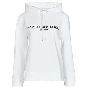 Textiel Dames Sweaters / Sweatshirts Tommy Hilfiger HERITAGE HILFIGER HOODIE LS Wit