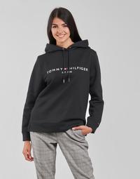 Textiel Dames Sweaters / Sweatshirts Tommy Hilfiger HERITAGE HILFIGER HOODIE LS Zwart