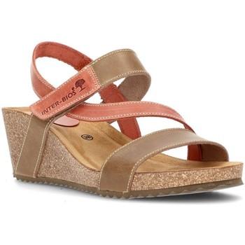 Schoenen Dames Sandalen / Open schoenen Interbios Sandalen Comfortabele wig 2019 BEIG_TEJA