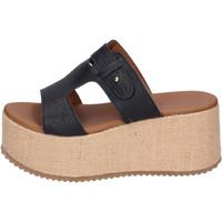 Schoenen Dames Leren slippers Sara Collection Sandalen BJ922 ,