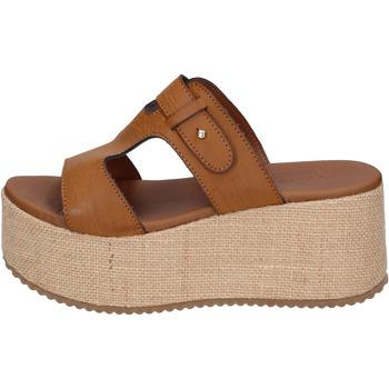 Schoenen Dames Leren slippers Sara Collection Sandalen BJ923 ,