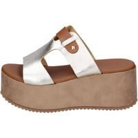 Schoenen Dames Leren slippers Sara Collection Sandalen BJ935 ,