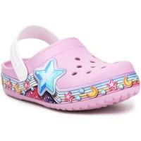 Schoenen Meisjes Klompen Crocs FL Star Band Clog 207075-6GD purple