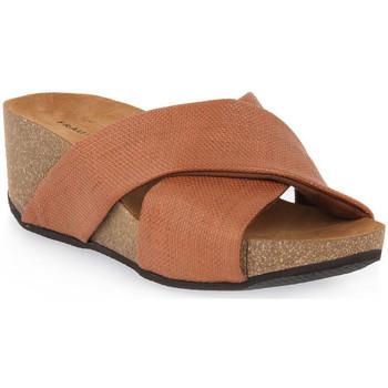 Schoenen Dames Leren slippers Frau NERO MATERA Nero