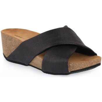 Schoenen Dames Leren slippers Frau TERRA MATERA Marrone