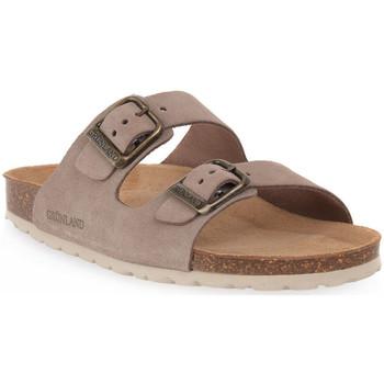 Schoenen Dames Leren slippers Grunland TAUPE 60 SARA Marrone