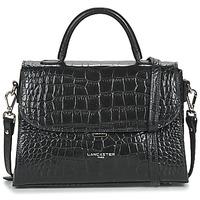 Tassen Dames Handtassen kort hengsel LANCASTER EXOTIC CROCO FR Zwart