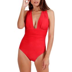 Textiel Dames Badpak Admas Cruisery  1-delig gekruist zwempak Zand