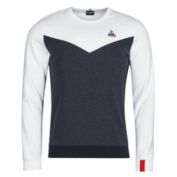Textiel Heren Sweaters / Sweatshirts Le Coq Sportif SAISON 1 CREW SWEAT N 1 Marine / Wit