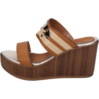 Schoenen Dames Leren slippers Sara Collection Sandalen BJ939 ,