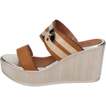 Schoenen Dames Leren slippers Sara Collection Sandalen BJ940 ,