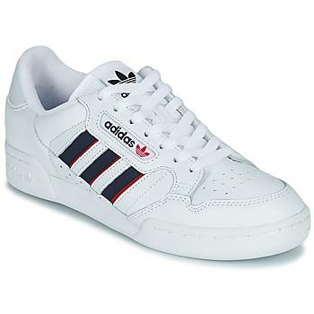 Schoenen Lage sneakers adidas Originals CONTINENTAL 80 STRI Wit / Blauw / Rood