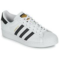 Schoenen Lage sneakers adidas Originals SUPERSTAR VEGAN Wit / Zwart