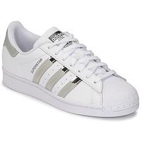 Schoenen Dames Lage sneakers adidas Originals SUPERSTAR W Wit / Zilver