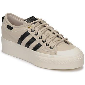 Schoenen Dames Lage sneakers adidas Originals NIZZA PLATFORM W Beige / Zwart