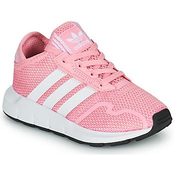 Schoenen Meisjes Lage sneakers adidas Originals SWIFT RUN X C Roze