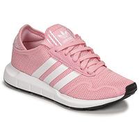 Schoenen Meisjes Lage sneakers adidas Originals SWIFT RUN X J Roze / Wit