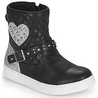 Schoenen Meisjes Laarzen Primigi B&G LUX Zwart / Zilver