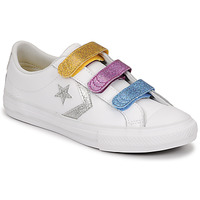 Schoenen Meisjes Lage sneakers Converse STAR PLAYER 3V GLITTER TEXTILE OX Wit / Multicolour
