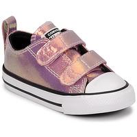 Schoenen Meisjes Lage sneakers Converse CHUCK TAYLOR ALL STAR 2V IRIDESCENT GLITTER OX Roze