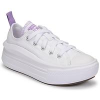 Schoenen Meisjes Lage sneakers Converse CHUCK TAYLOR ALL STAR MOVE CANVAS OX Wit / Roze