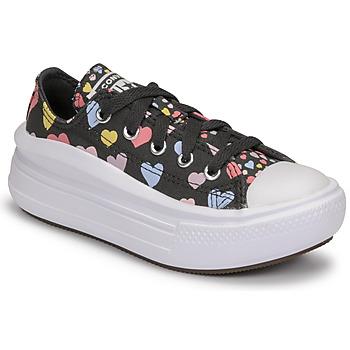 Schoenen Meisjes Lage sneakers Converse CHUCK TAYLOR ALL STAR MOVE ALWAYS ON HEARTS OX Zwart / Multicolour