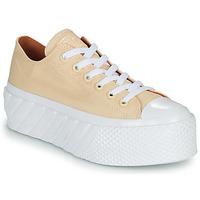 Schoenen Dames Lage sneakers Converse CHUCK TAYLOR ALL STAR LIFT 2X HYBRID SHINE OX Geel