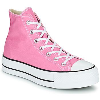 Schoenen Dames Hoge sneakers Converse CHUCK TAYLOR ALL STAR LIFT SEASONAL COLOR HI Roze
