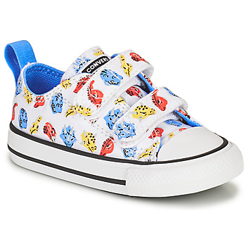 Schoenen Kinderen Lage sneakers Converse CHUCK TAYLOR ALL STAR 2V DINO DAZE OX Wit / Groen / Oranje