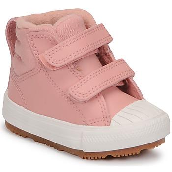 Schoenen Meisjes Hoge sneakers Converse CHUCK TAYLOR ALL STAR BERKSHIRE BOOT SEASONAL LEATHER HI Roze